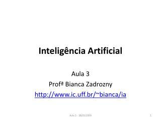 Intelig�ncia Artificial