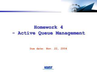 Homework 4 - Active Queue Management