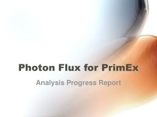 Photon Flux for PrimEx