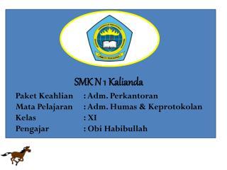 SMK N 1  Kalianda