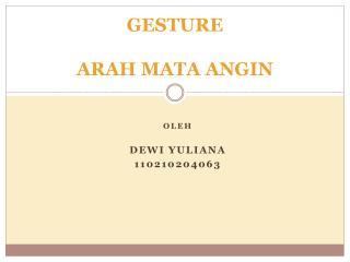 GESTURE ARAH MATA ANGIN