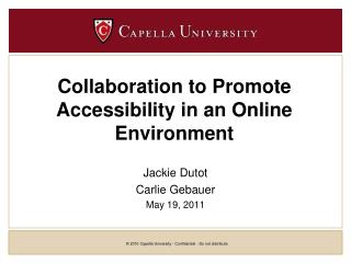 Collaboration to Promote Accessibility in an Online Environment
