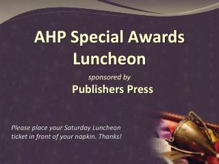 AHP Special Awards Luncheon