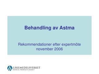 Behandling av Astma