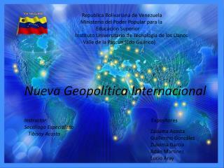 Republica Bolivariana de Venezuela     Ministerio del Poder Popular para la