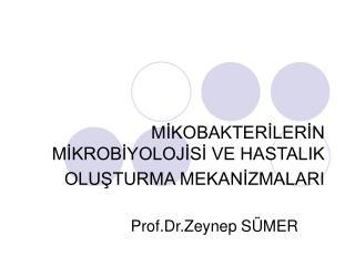 MIKOBAKTERILERIN MIKROBIYOLOJISI VE HASTALIK OLUSTURMA MEKANIZMALARI