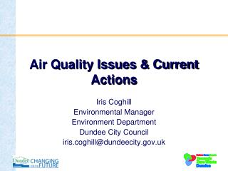 Air Quality Issues & Current Actions