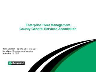 Enterprise Fleet Management County General Services Association