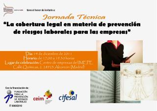 """""""La cobertura legal en materia de prevención de riesgos laborales para las empresas"""""""