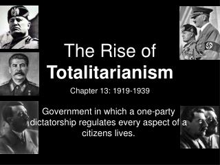 essay on the rise of totalitarianism