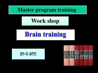 Master program training