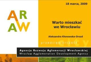 Warto mieszkać  we Wrocławiu