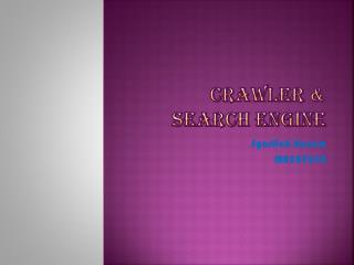 CRAWLER & SEARCH ENGINE
