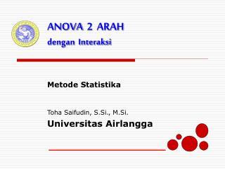 Metode Statistika  Toha Saifudin, S.Si., M.Si. Universitas Airlangga