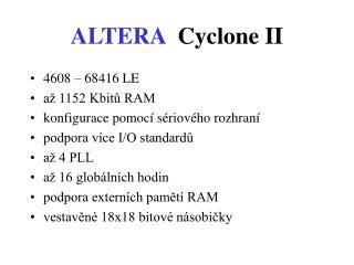 ALTERA Cyclone II