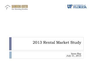2013 Rental Market Study