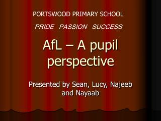 AfL – A pupil perspective