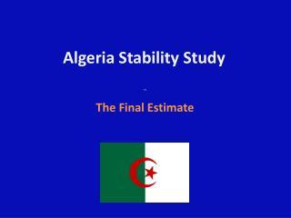 Algeria Stability Study