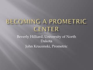 Becoming a Prometric center