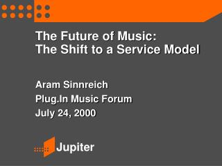 The Future of Music: The Shift to a Service Model