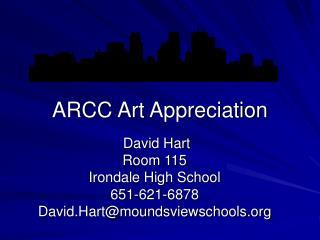 ARCC Art Appreciation