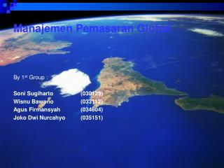 Manajemen Pemasaran Global