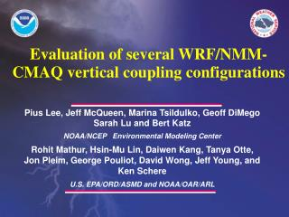Evaluation of several WRF/NMM-CMAQ vertical coupling configurations