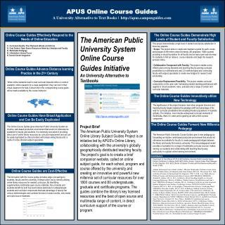 APUS Online Course Guides A University Alternative to Text Books |  apusmpusguides