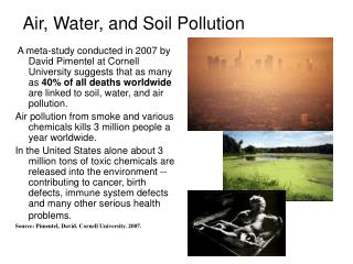 Ppt chapter 15 pollution of soil water and air 15 1 for Soil and water facts