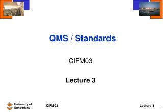 QMS / Standards