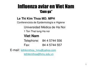 Influenza aviar en Viet Nam �Cum ga�