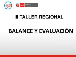 III TALLER REGIONAL