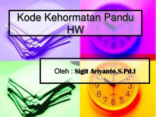 Kode Kehormatan Pandu HW