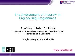 The Involvement of Industry in Engineering Programmes