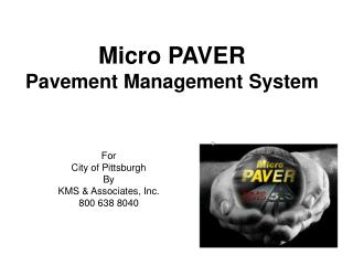 Micro PAVER Pavement Management System