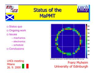 Status of the  MaPMT