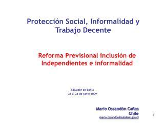 Protección Social, Informalidad y Trabajo Decente
