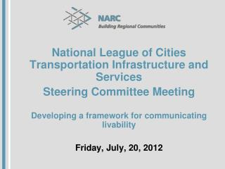 National League of Cities Transportation Infrastructure and Services Steering Committee Meeting