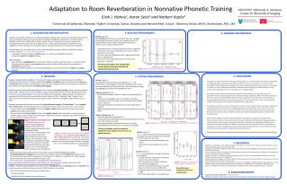 Adaptation to Room Reverberation in Nonnative Phonetic Training