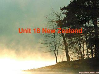 Unit 18 New Zealand