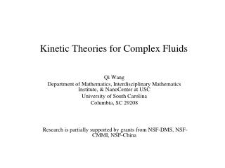 Kinetic Theories for Complex Fluids
