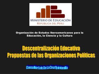 Consultor: Luis De La Cruz Quintanilla