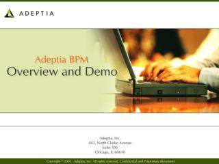 About Adeptia Business Model Value proposition Customers Architecture Product demonstration