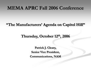 MEMA APRC Fall 2006 Conference