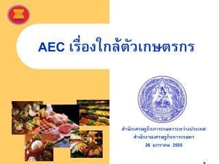 สำนักเศรษฐกิจการเกษตรระหว่างประเทศ สำนักงานเศรษฐกิจการเกษตร 26  มกราคม  2555