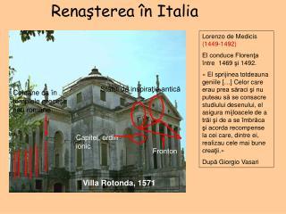 Re naşterea în Italia