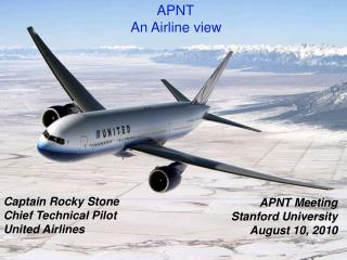 APNT  An Airline view