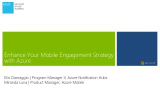 Enhance Your Mobile Engagement Strategy with Azure