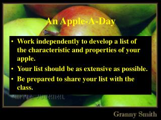 An Apple-A-Day