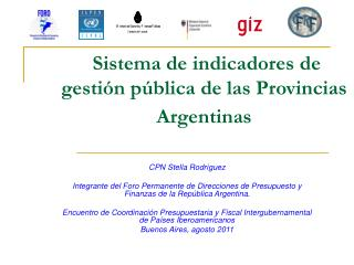 Sistema de indicadores de gestión pública de las Provincias Argentinas